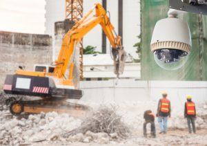 Beweglich technische Einrichtung zur flexiblen, umfassenden Überwachung von Wertgegenständen innerhalb eines Baustellenbereichs.